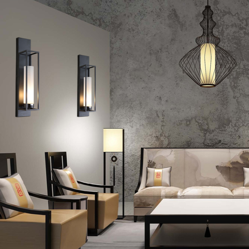 LED wall lights glass shade  New Chinese from  Singapore luxury lights shop Horizon-lights