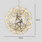 Contemporary Chandelier Spherical Stainless Steel Bar Shade LED lights from Singapore luxury light house Horizon-lights size