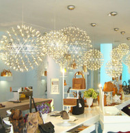 Contemporary Chandelier Spherical Stainless Steel Bar Shade LED lights from Singapore luxury light house Horizon-lights