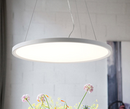 Ultra-thin Round Disc-shaped Pendant Lights;Horizon-lights
