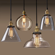 Industrial Style LED Pendant Lights Glass Shade Dining Room Cafe Bar from Singapore best online lighting shop horizon lights product