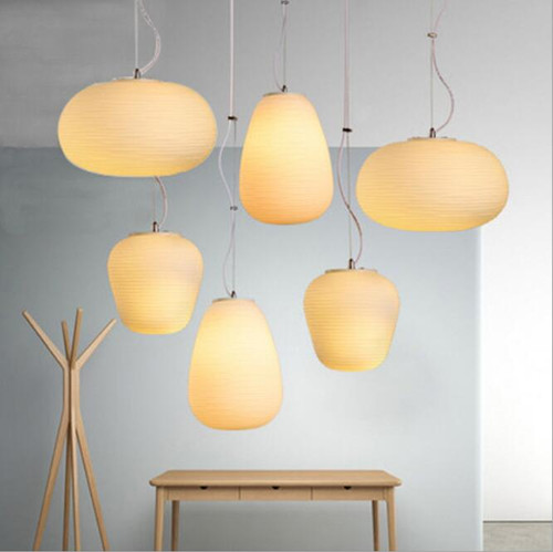 Post Modern Style LED Pendant Glass Lampshade Thread Creative Dining Room from Singapore best online lighting shop horizon lights