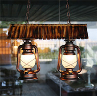 Vintage Pendant Lights Gasoline light design bamboo shade for home and hospitality application from affordable luxury Horizon-lights