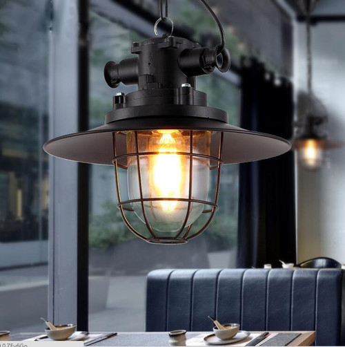 Retro Style LED Pendant Light Metal Frame Multiple Color Bar Dining Room from Singapore best online lighting shop horizon lights