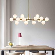 Nordic Style Chandelier LED Light Glass Magic Beans Metal Frame Dining Room from Singapore best online lighting shop horizon lights