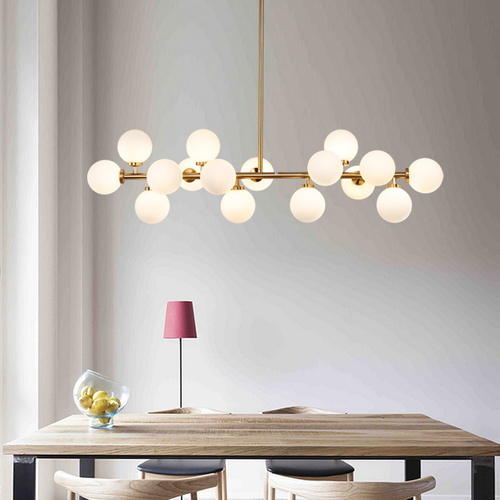 Nordic Style Chandelier LED Light Glass Magic Beans Metal Frame Dining Room from Singapore best online lighting shop horizon lights image-1