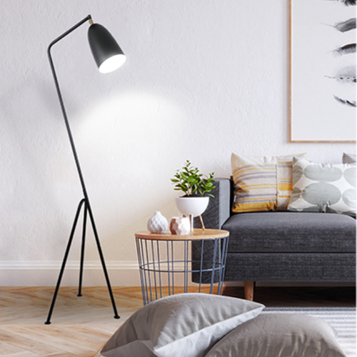 Bring home style and a splash of colors with the Grasshopper floor lamp. This lamp casts a concentrated beam of light that is good for reading and working. The well-known York geometric style works show simple and smooth lines from the lampshade to the base, which are beautiful and practical. The minimalist style is suitable for any decoration and scene, perfectly fits your living room, study, bedroom, etc. It is the best companion for your work and life. from Singapore best online lighting shop horizon lights