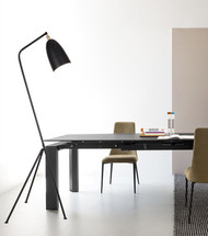 Herlig Minimalism Floor Lamp LED light black shade from Singapore most affordable luxury light house Horizon-lights