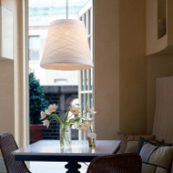 Voglio LED Pendant lights c/w fabric shade (home and restaurants) by DHL