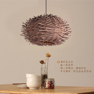 New Chinese Style LED Pendant Light Tree Branches Bird Nest Handmade Dining Room from Singapore best online lighting shop horizon lights