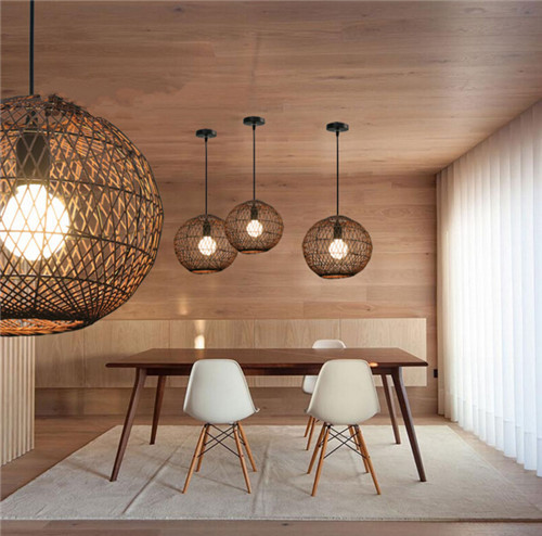 New Chinese Style Pendant Light Creative Rattan Birdcage Hollow Out Study Room from Singapore best online lighting shop horizon lights