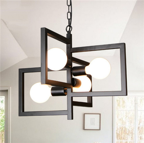 Contemporary Chandelier Square Iron Shade  - home hotel and restaurants   from light house Horizon-lights
