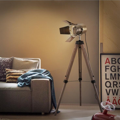 LOFT Contemporary Floor lamp Searching Spot light Wooden Tripod Floor Lamp;Horizon-lights