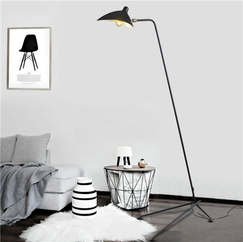 Herlig Minimalism LED light Floor Lamp metal Shade from Singapore luxury light house Horizon-lights