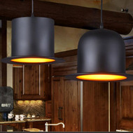 Retro Style LED Pendant Lights Chaplin Hat Aluminium Shade Restaurant from Singapore best online lighting shop horizon lights