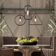Loft LED pendant lights Iron Ring Shade from Singapore best online lighting shop Horizon-lights