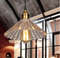 Industrial LED pendant lights glass shade iron bar group support from Singapore luxury light house horizon lights