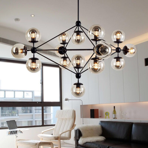 Nordic Style LED Chandelier Lights Glass Magic Beads Metal Living Room from Singapore best online lighting shop horizon lights
