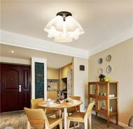 Voglio LED Ceiling Lights Star flower Glass shade from Singapore luxury lighting house Horizon-lights
