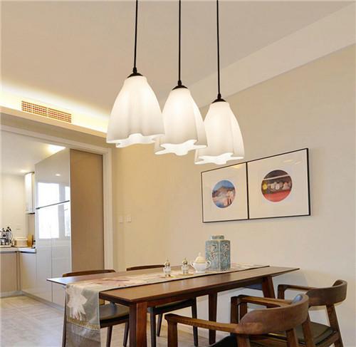 Modern Style LED Pendant Lights Glass Flowers Shape Dining Room Bar from Singapore best online lighting shop horizon lights