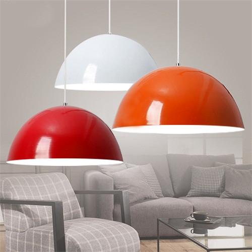 Simplicity Pendant Lights Aluminium Shade 30cm Dia. E27 Phillip LED bulbs from Singapore online lighting house Horizon-lights