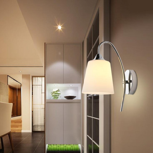 American Simple Modern LED Wall Light Glass Lampshade Metal E27 Corridor Living Room  from Singapore luxury lighting house Horizon-lights
