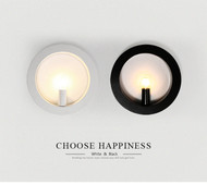Simple Modern Style LED Wall Lamp Metal Round Shade E27 Bedroom Living Room Corridor  from Singapore best online lighting shop horizon lights