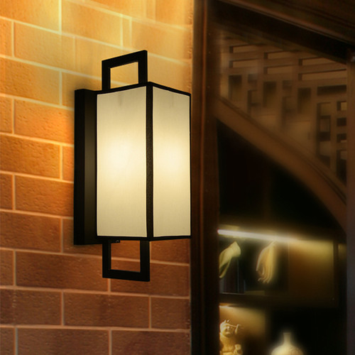 New Chinese Style LED Wall Lamp Cloth Lampshade Metal E14 Living Room Corridor  from Singapore luxury lighting house Horizon-lights.