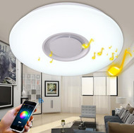 Simple Modern LED Ceiling Lights Music Bluetooth Control Acrylic Shade PVC Living Room Dining Room from Singapore luxury lighting house Horizon-lights