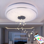 LED Ceiling Light with Speaker Bluetooth Music Warm Dimming Color from Singapore luxury lighting house Horizon-lights