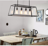 Modern Style Pendant Light Metal Frame Glass Shade Dining Room Shops from Singapore best online lighting shop horizon lights