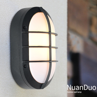 Waterproof wall lights made of aluminum and glass, you can replace the E27 bulb,Stylish elegance, suitable for the courtyard.