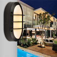 LED Wall Lights Acrylic shade Bread shape extra protection Aluminium outdoor Waterproof IP 65 from Singapore best online lighting shop horizon lights