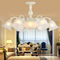 European Style LED Chandelier Light Glass Flower Shade Metal Frame Living Room from Singapore best online lighting shop horizon lights