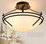 American Country Style LED Ceiling Light Glass Shade Metal Simple Corridor from Singapore best online lighting shop horizon lights
