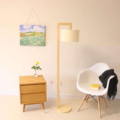 Wood floor lamp from online luxury lighting shop horizon lights.