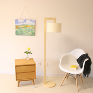 Wood floor lamp from online luxury lighting shop horizon lights.