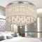 Crystal Ceiling light hand made  fabric thread shade LED  from Singapore online luxury lighting shop horizon lights.
