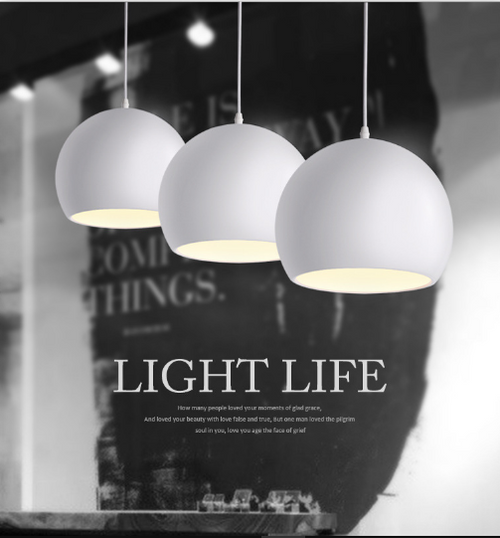 round aluminum pendant from Singapore online luxury lighting shop horizon lights.