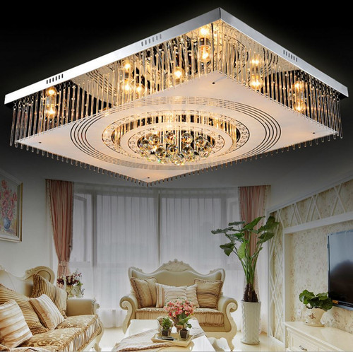 Crystal Led Ceiling Lights Rectangular Modern Style from Affordable Luxury Horizon-lights.
