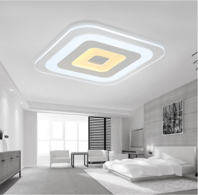 Modern LED Ceiling lights Rectangle Super Slim Acrylic Shade for Bedroom Lighting