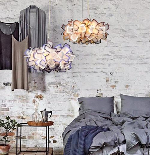 Northern Europe LED Ceiling Light PVC Flower Shape Romantic Art Bedroom Living Room Decor from Singapore best online lighting shop horizon lights
