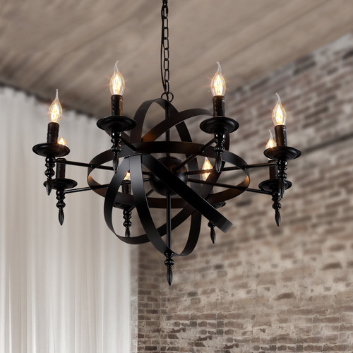 Candlestick Metal LED Chandelier Light American Retro Living Room from Singapore best online lighting shop horizon lights