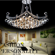 Luxury Modern Style LED Chandelier Crystal Four Corner Net Design Bedroom Living Room Dining Room