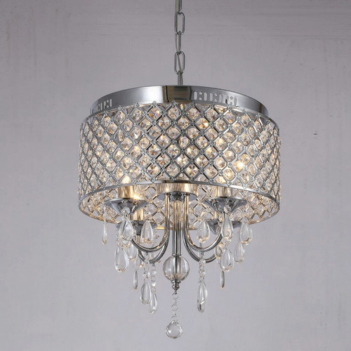 Classic European design LED Pendant lights metal mesh shade crystal from Singapore best online lighting shop horizon lights