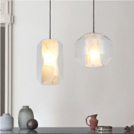 Marble pendant lights modern bedroom restaurant bar style decoration single head lamp