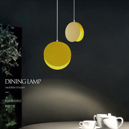 Nordic style LED Pendant Light Iron Disc Lampshade Dining Room Coffee Bar Decor from Singapore best online lighting shop horizon lights