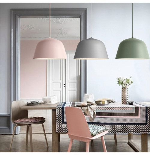 Colorful Aluminium Pendant Light  Philips LED Bulbs E27 Modern Nordic Single head similar to Muuto Ambit from Singapore best online lighting shop horizon lights