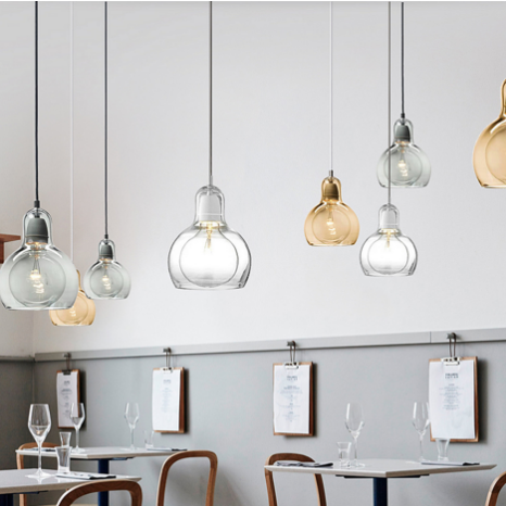 Glass Pendant Lights Inspired by &Tradition Bulb SR1 Pendant Light Modern Style from Singapore best online lighting shop horizon lights