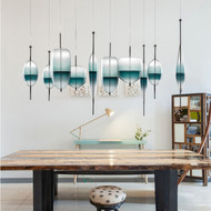 Venice Blue glass Pendant Light  Italian Design from Singapore best online lighting shop horizon lights